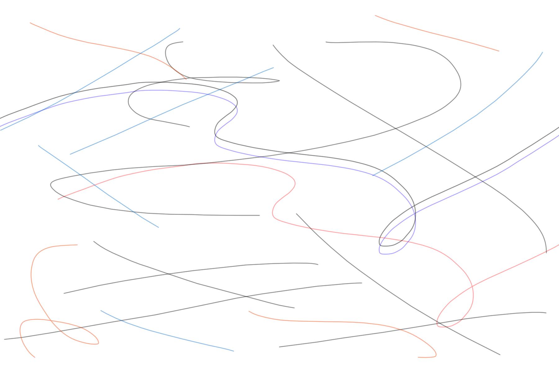 lignes courbes dessin